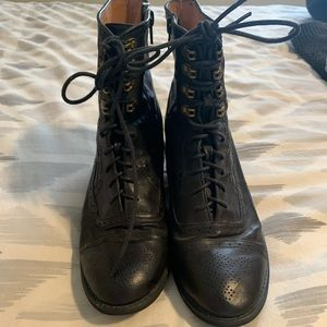 Jeffrey Campbell Black Victorian Style Boot